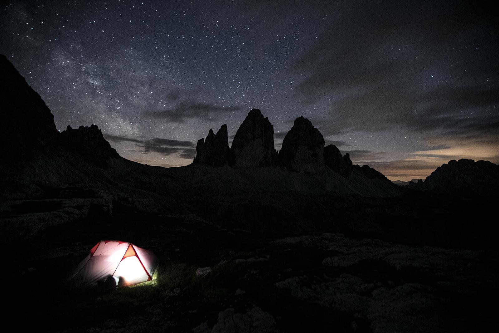 camper dans les dolomites