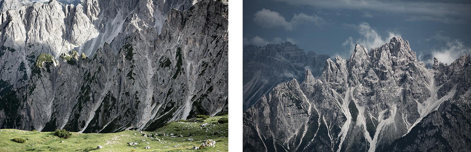 paysages de montagnes dans les dolomites