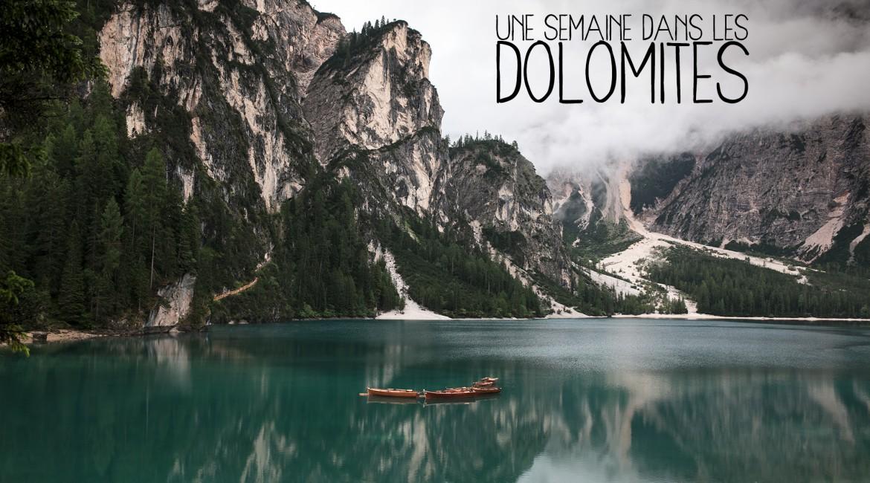 Une semaine dans les Dolomites, en Italie