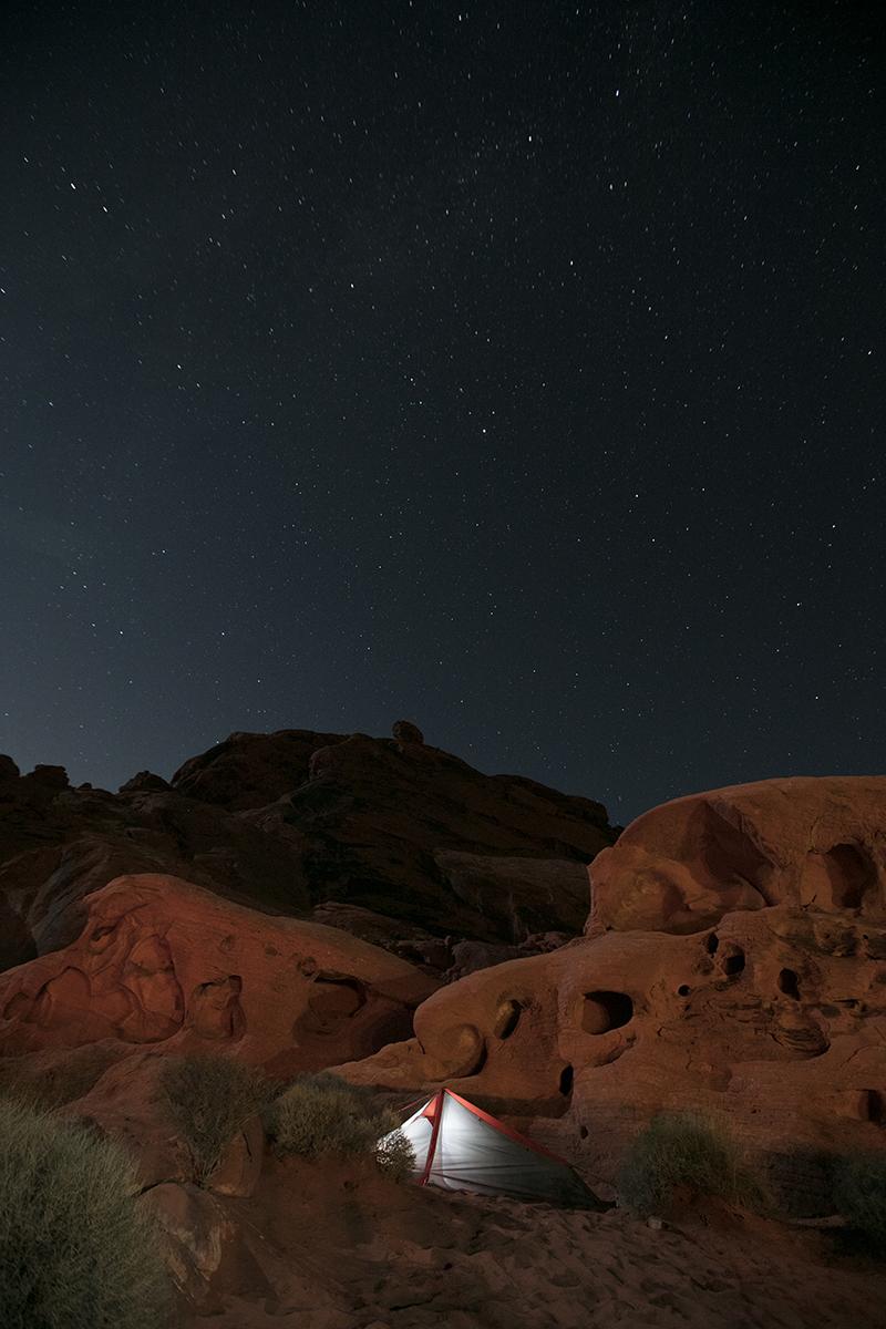 Nuit étoilée dans la Valley of fire