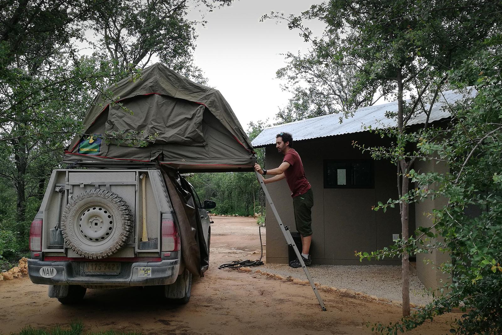 Camper à Etosha