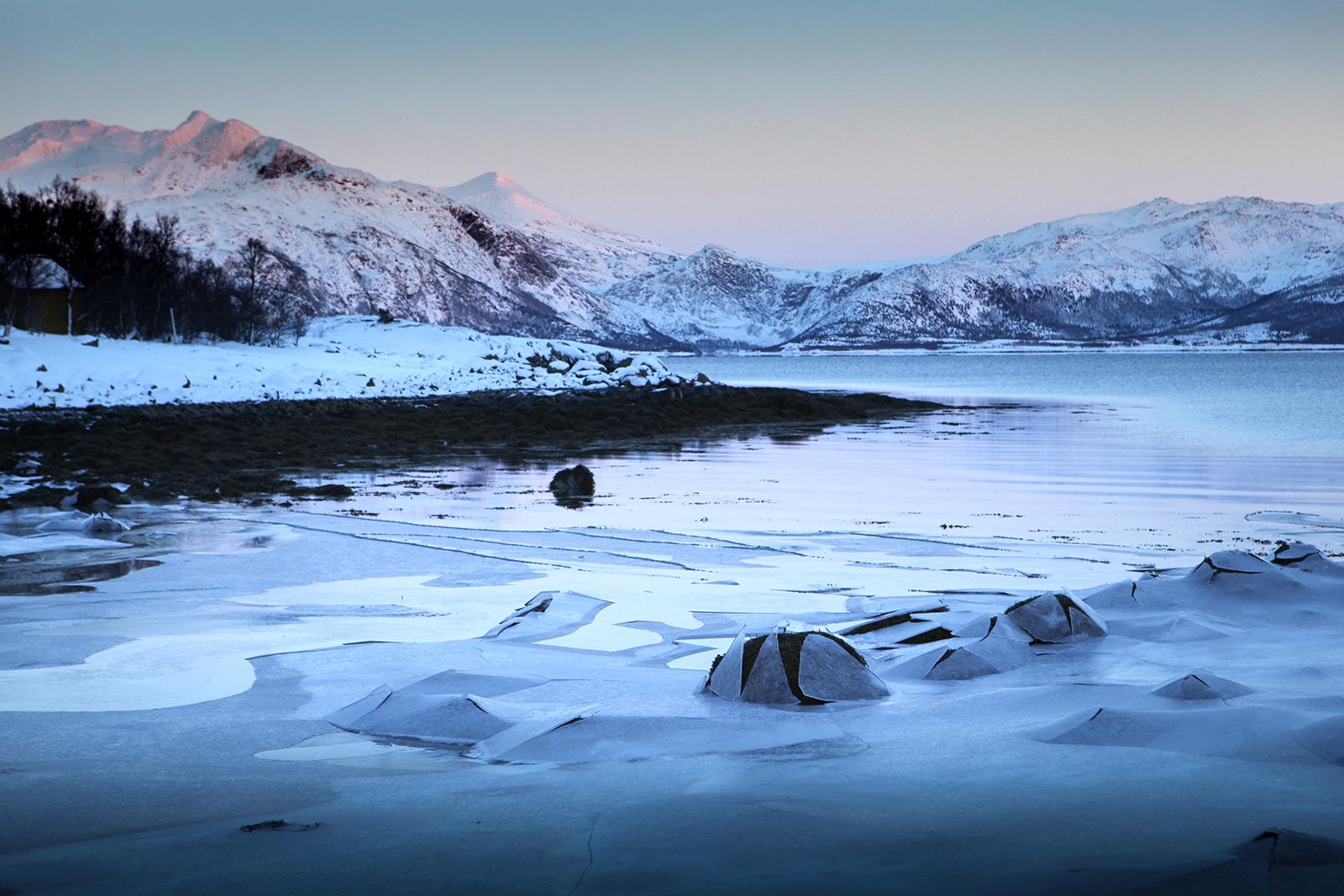 Paysage îles Vesteralen en Norvège du Nord