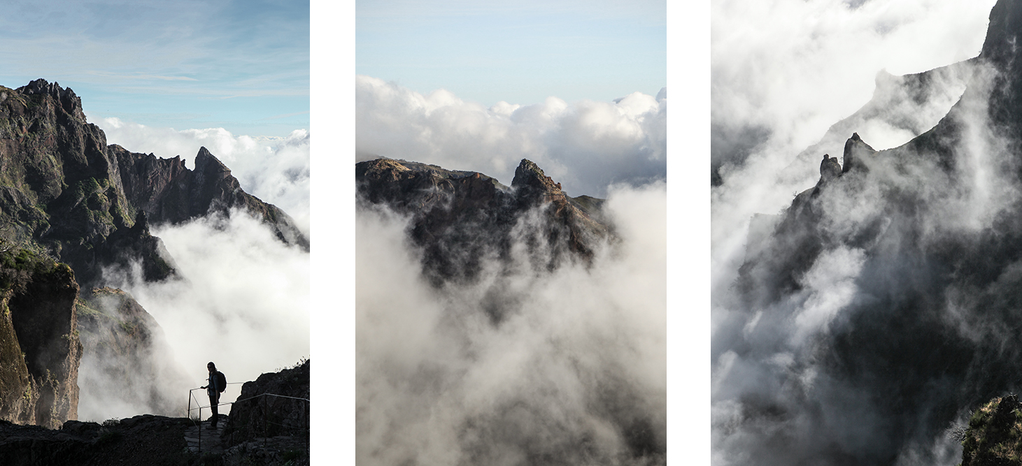 Montagnes dans les nuages
