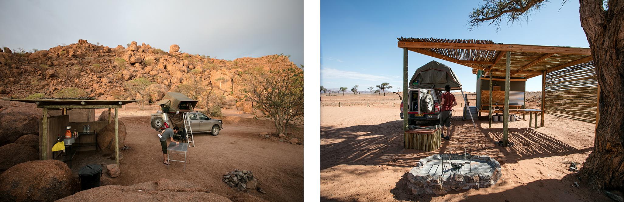 Camper en Namibie