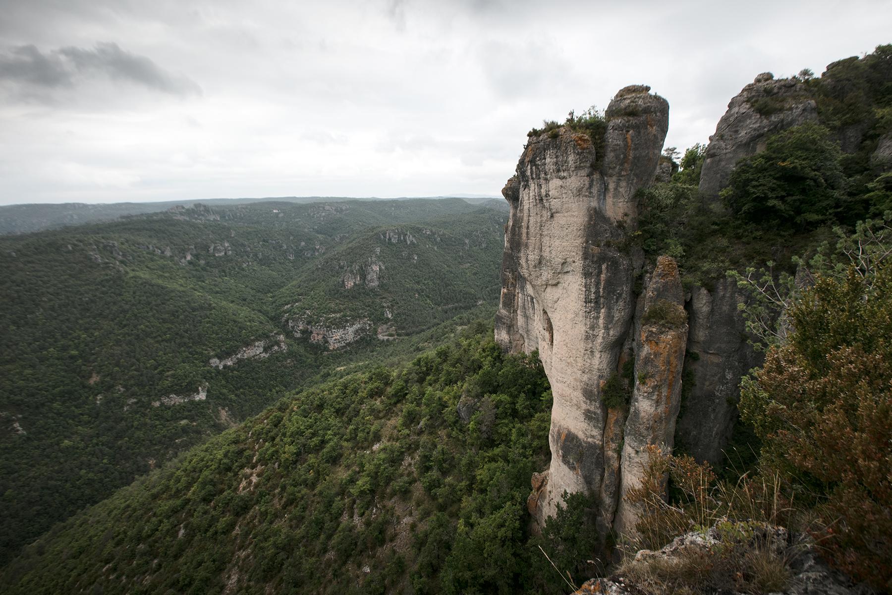 POint de vue en Aveyron, la Corniche du Rajol