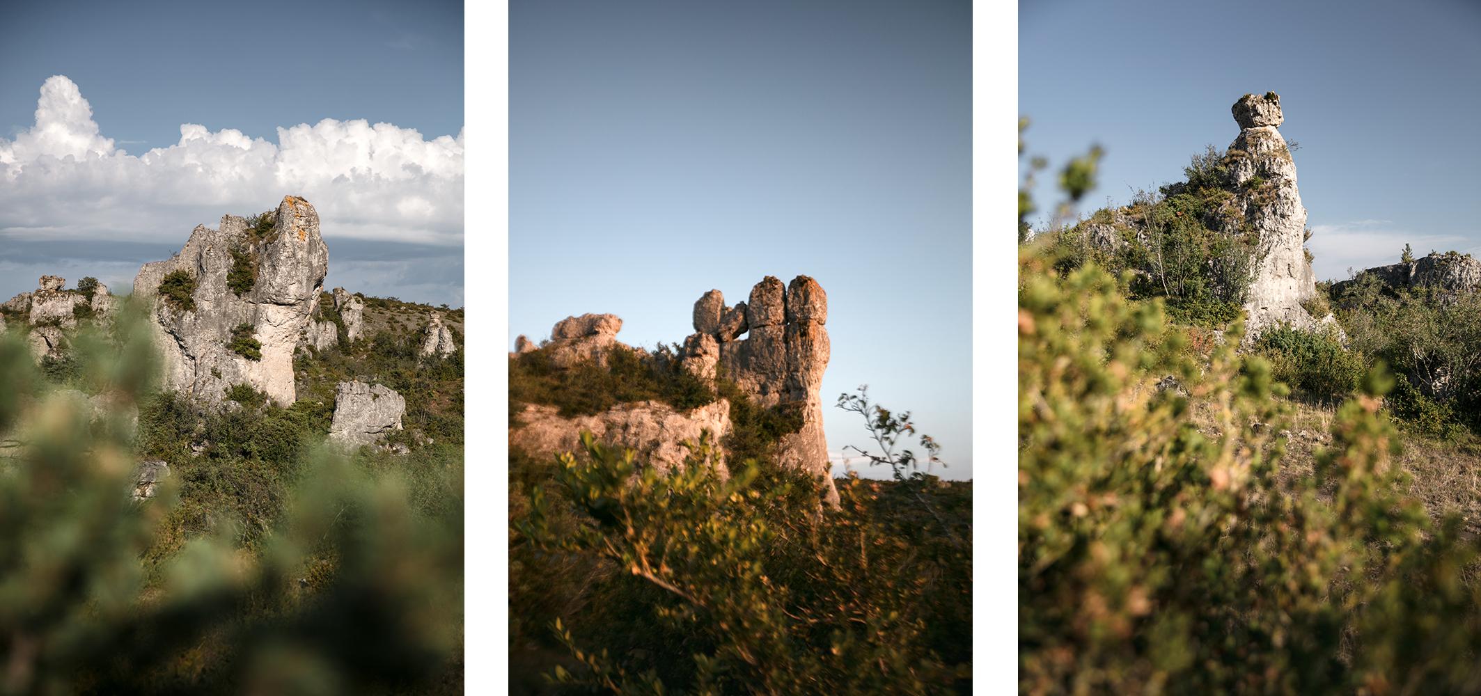 Rochers caractéristiques dans l'Aveyron