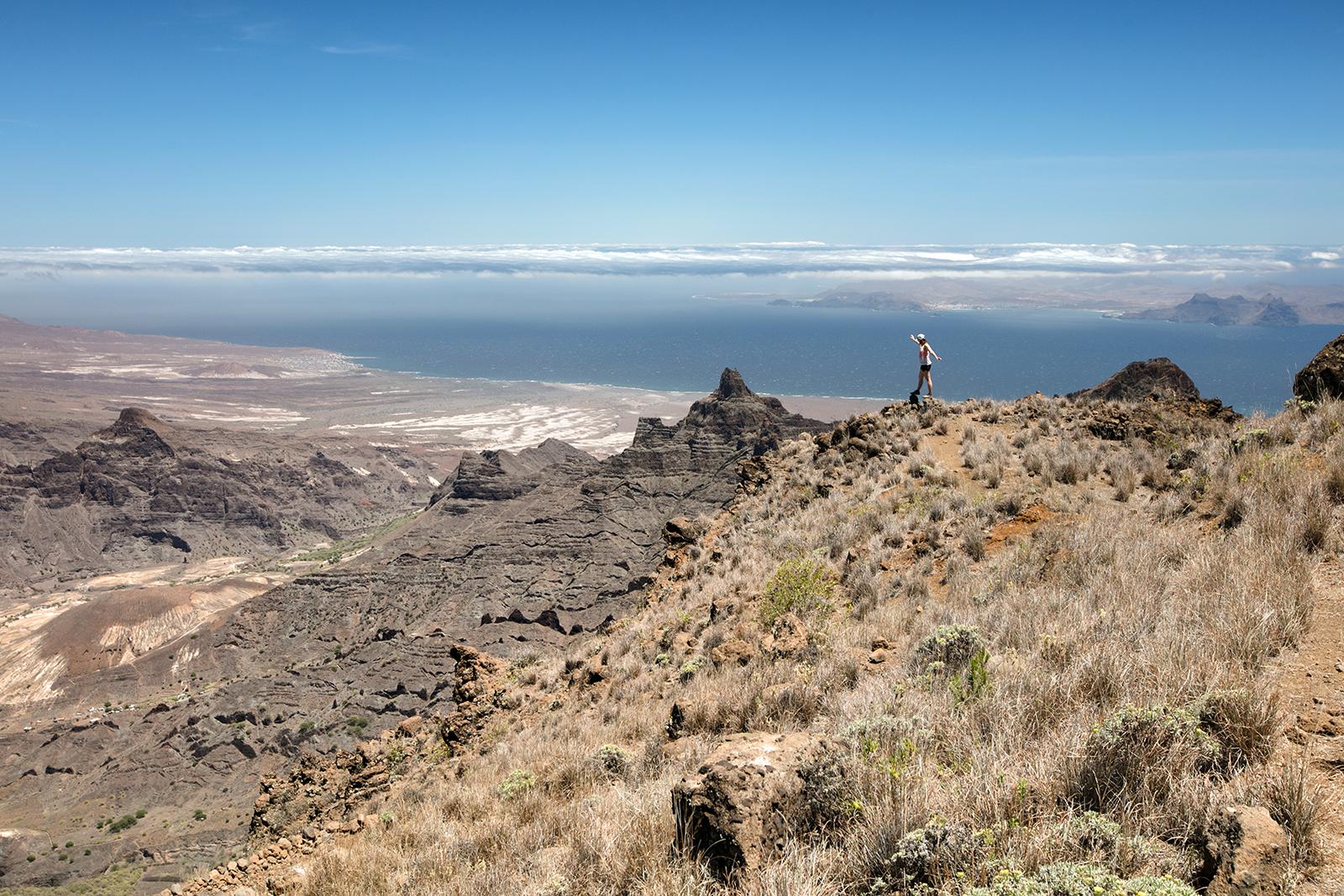 Panorama sur les sommets à Santo Antao
