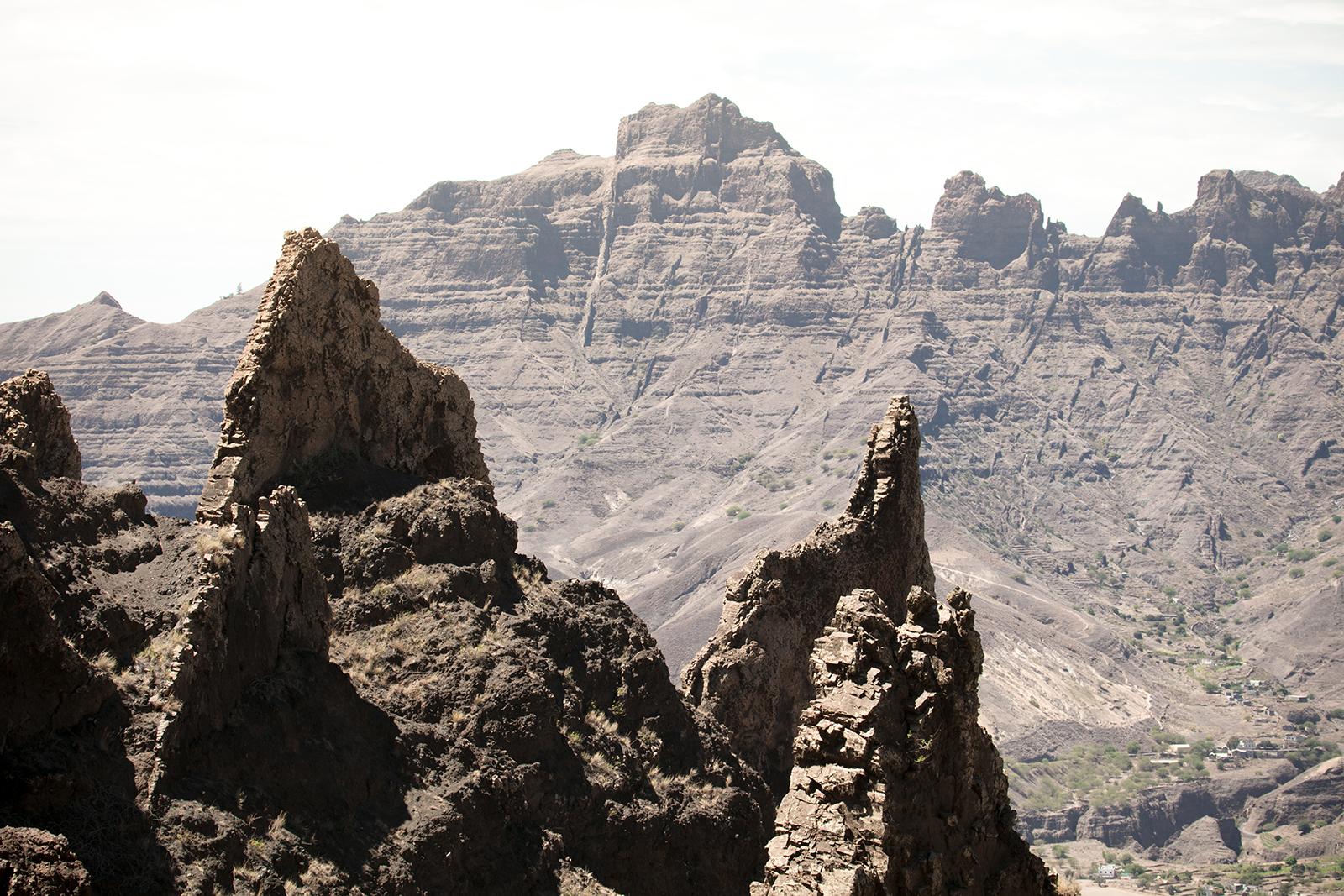 Rochers sur l'île de Santo Antao au Cap Vert