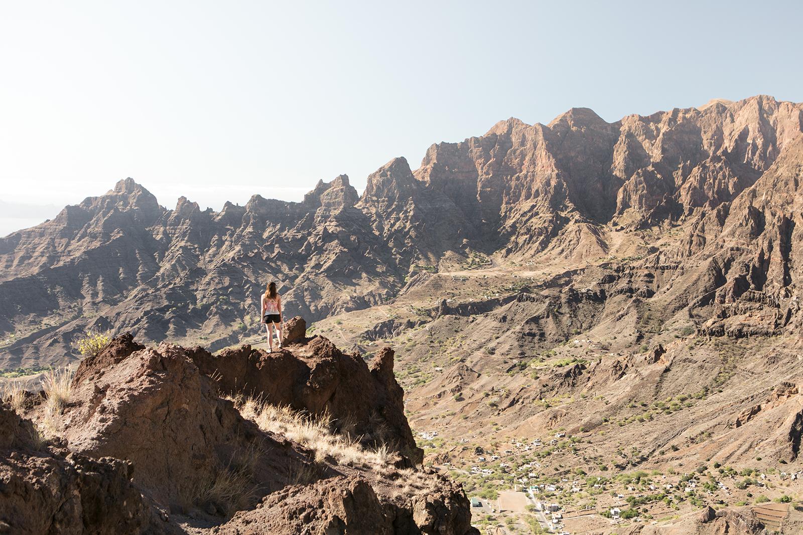 Montagnes rocheuses au Cap Vert