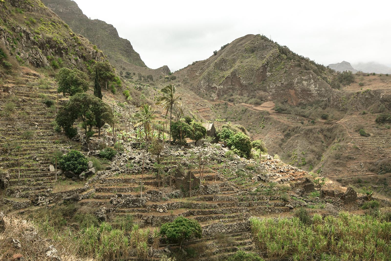 Village dans les montagnes à Santo Antao