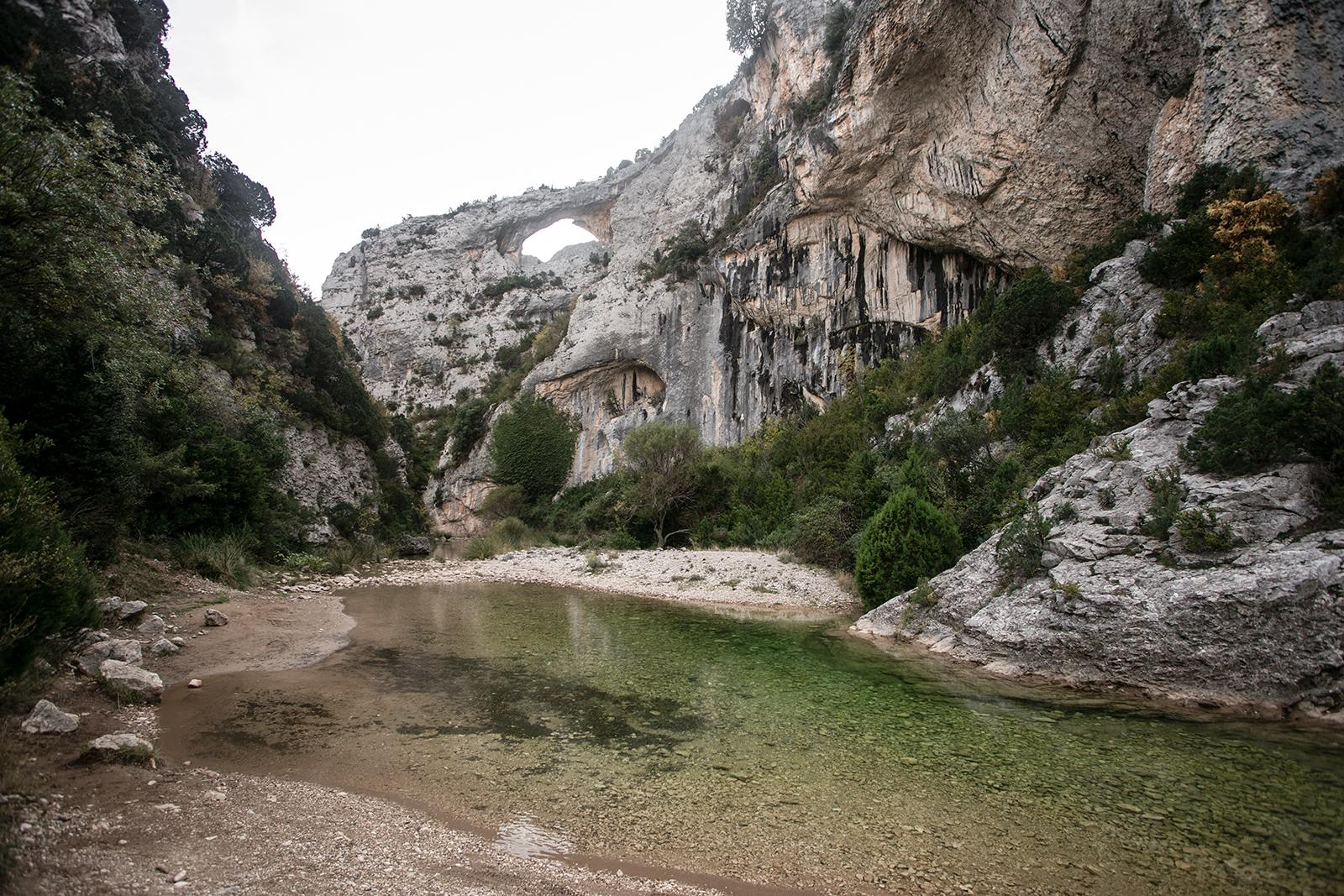 Marche d'approche Rodellar canyon mascun
