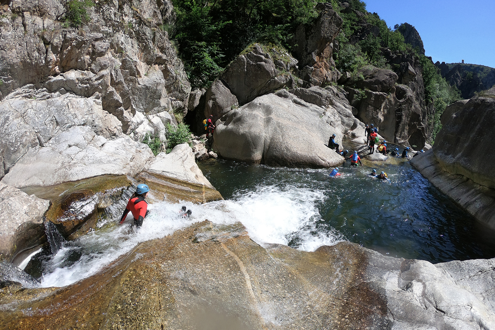 Canyoning en France Lozère