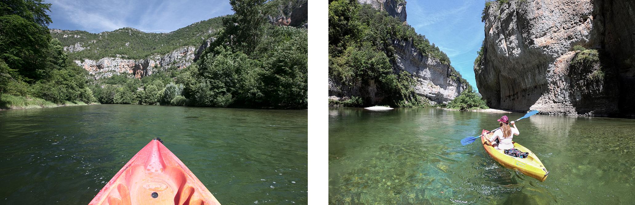 Kayak en Lozère, dans les gorges du tarn