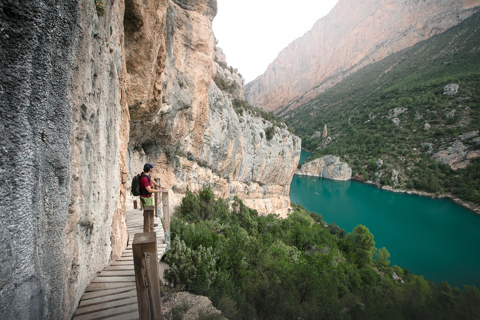 Randonnée en Aragaon en Espagne, au Congost de Mont Rebei