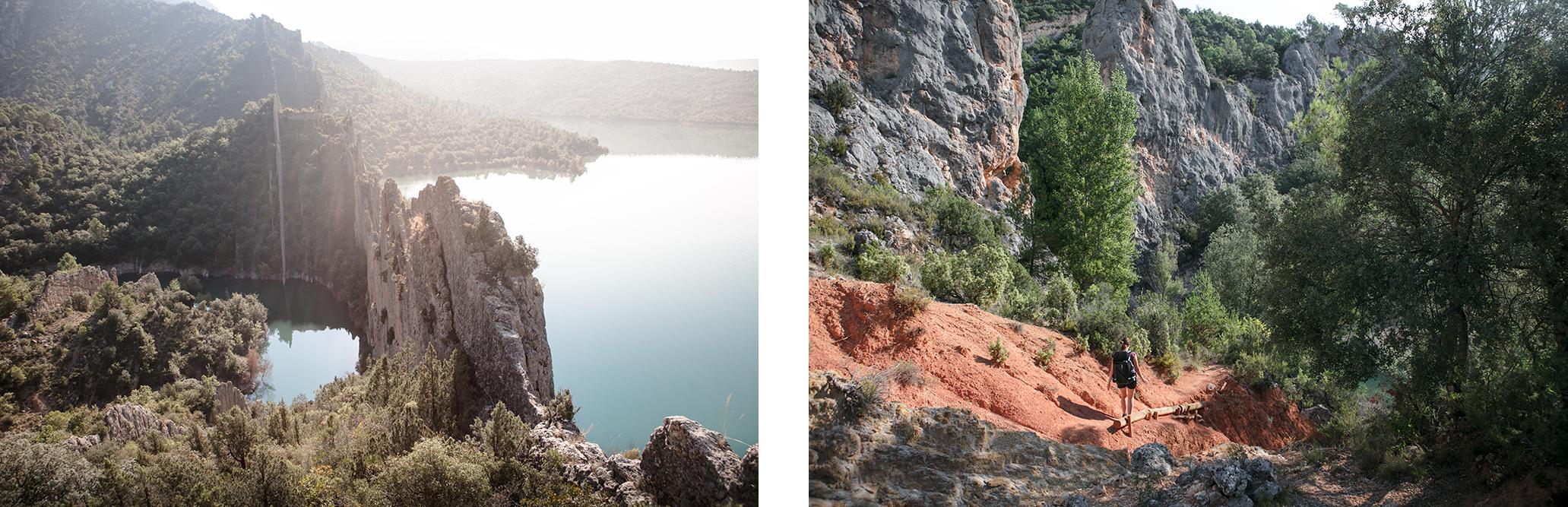 Randonnée en Aragaon en Espagne, aux murailles de Finestras
