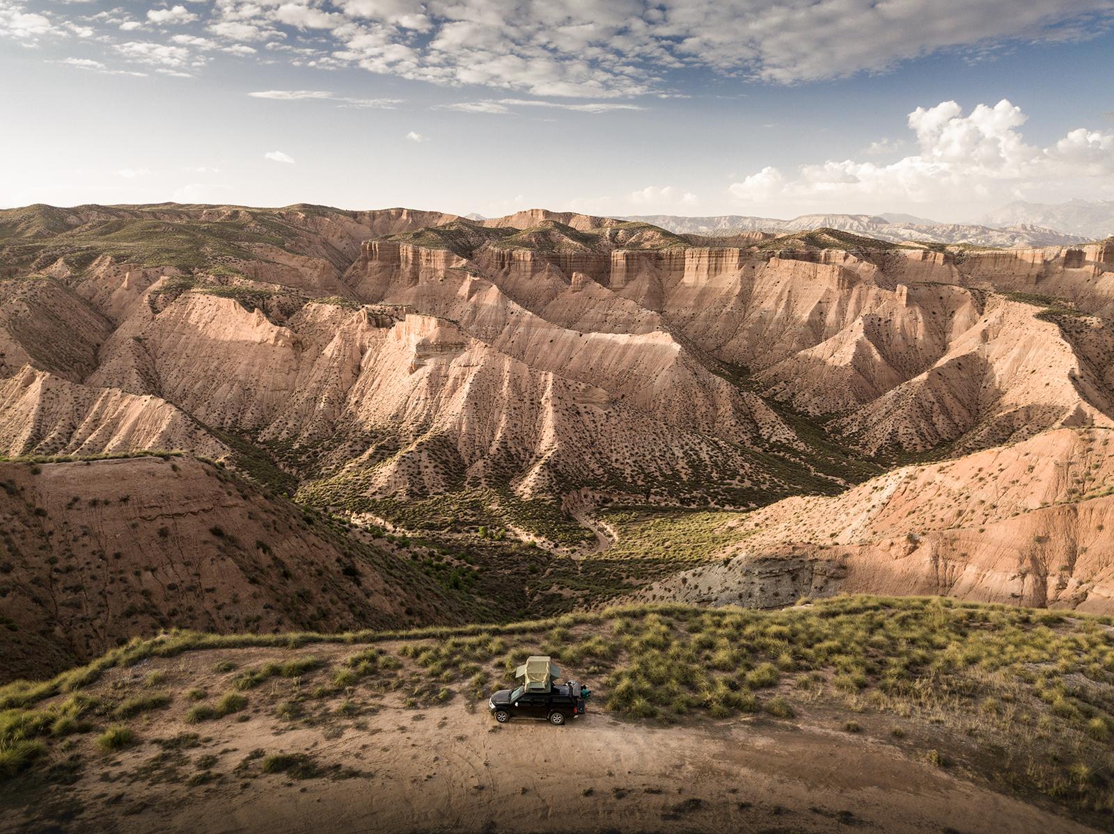 Bivouac sauvage dans le désert de Gorafe