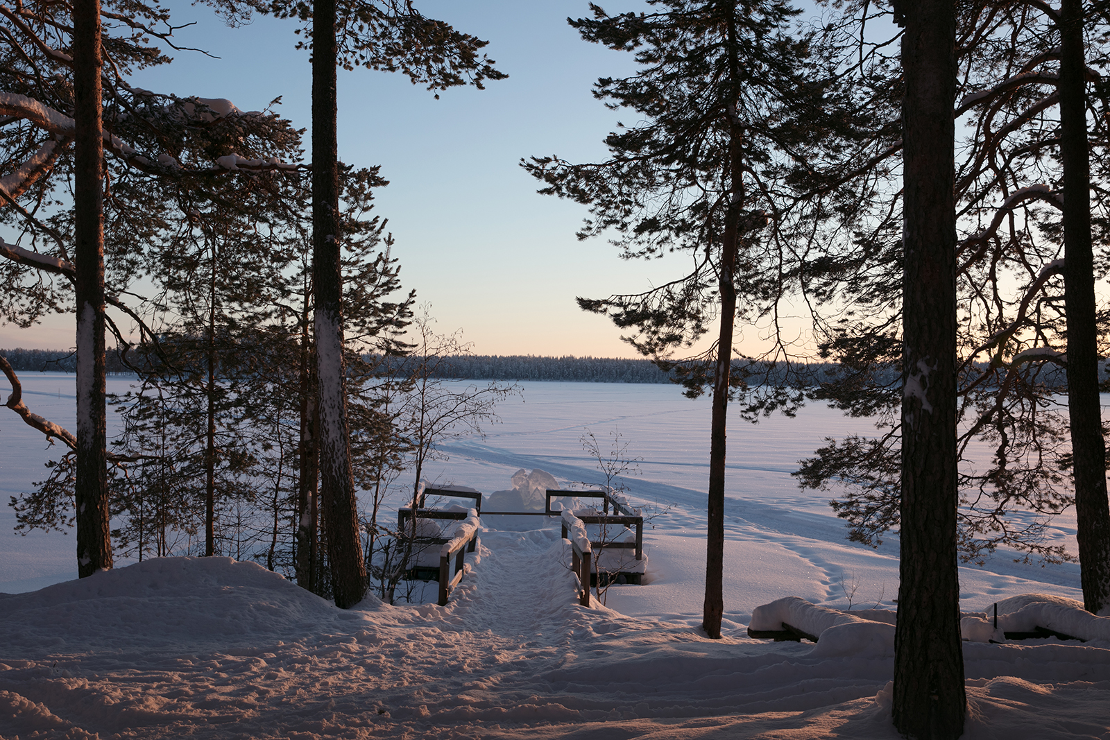 Dormir en cabane en Finlande en hiver