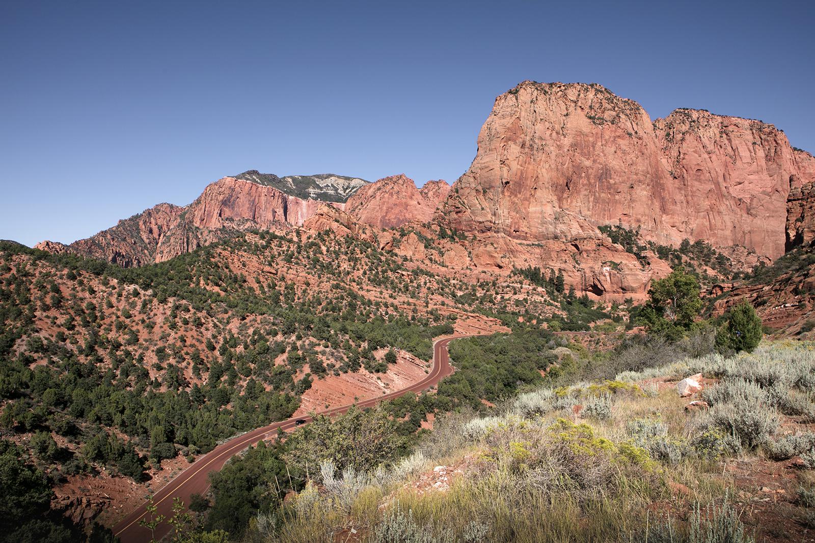 Route panoramique Zion Kolob Canyon