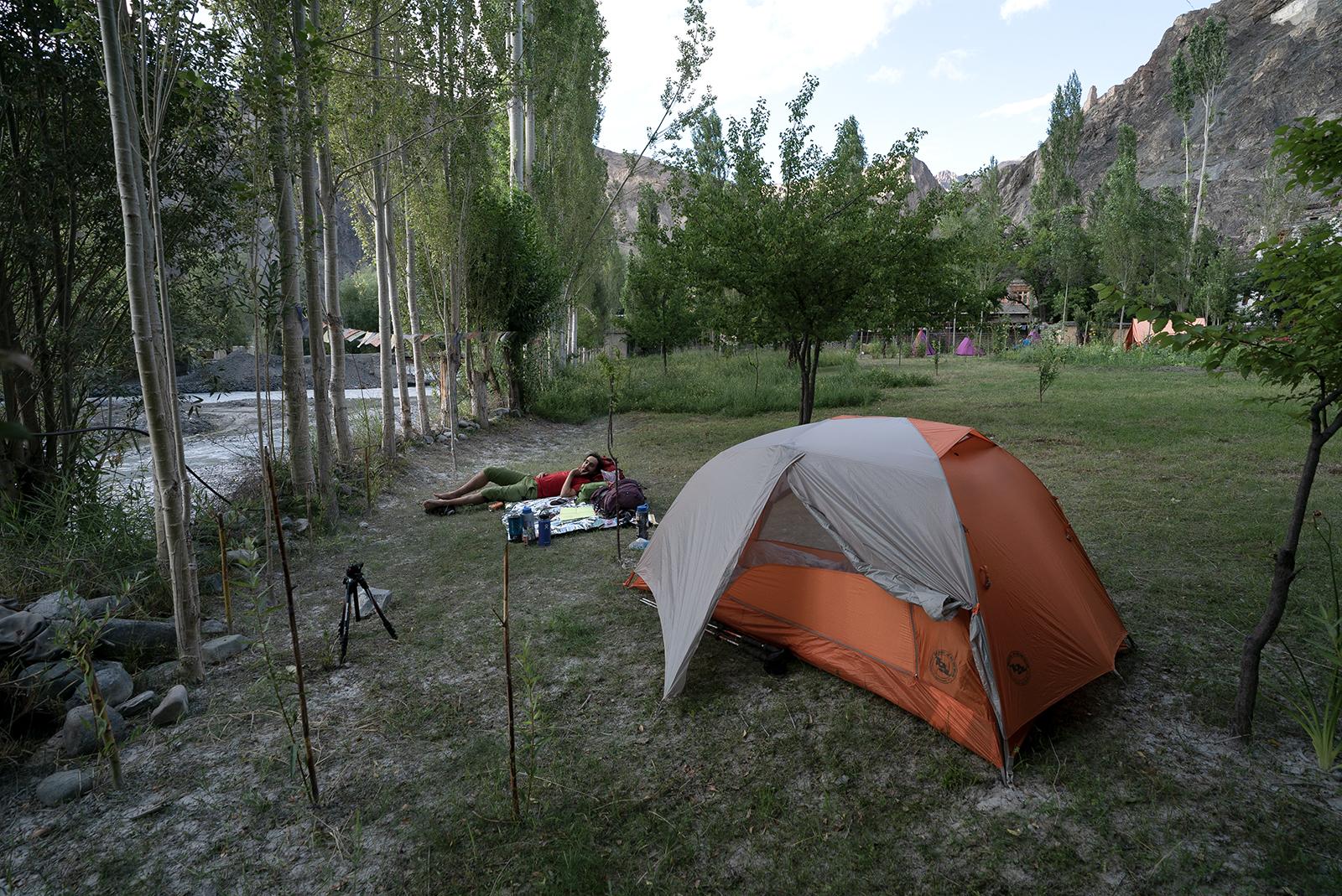 Camper au Ladakh