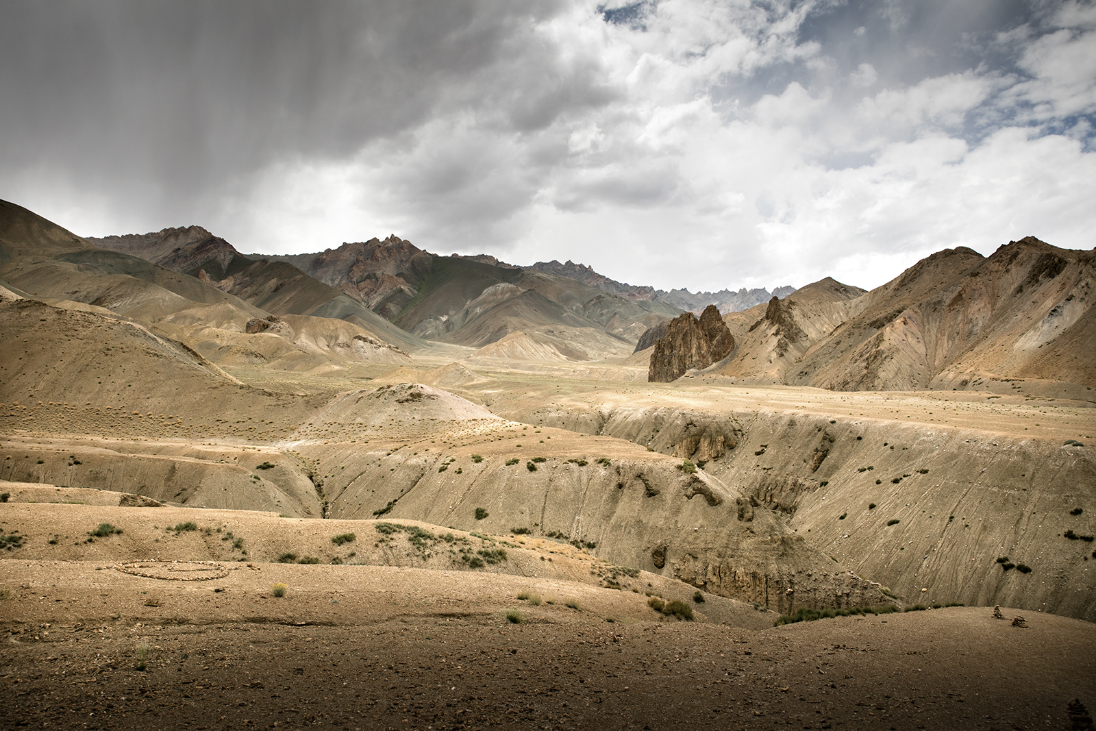 Paysage désertique du Ladakh
