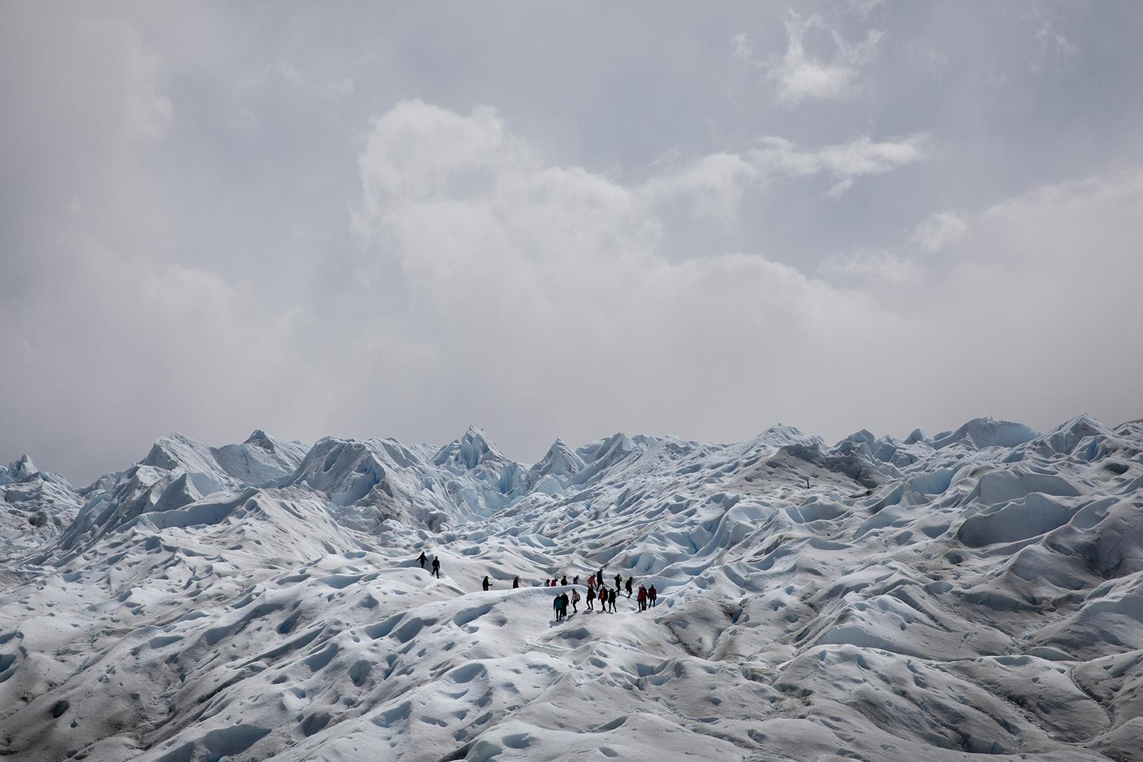 Trek glacier Argentine