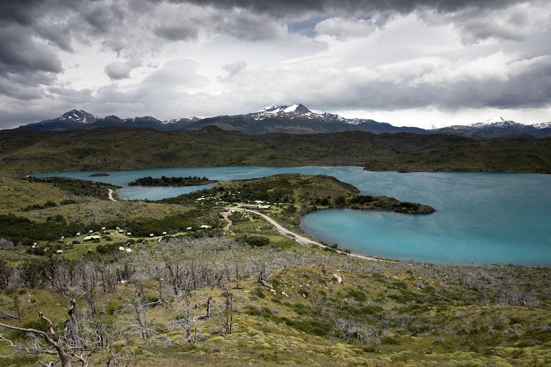 Vue lac pehoe chili