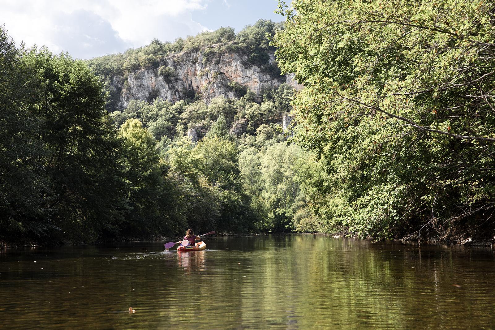 kayak dans la vallée du Célé