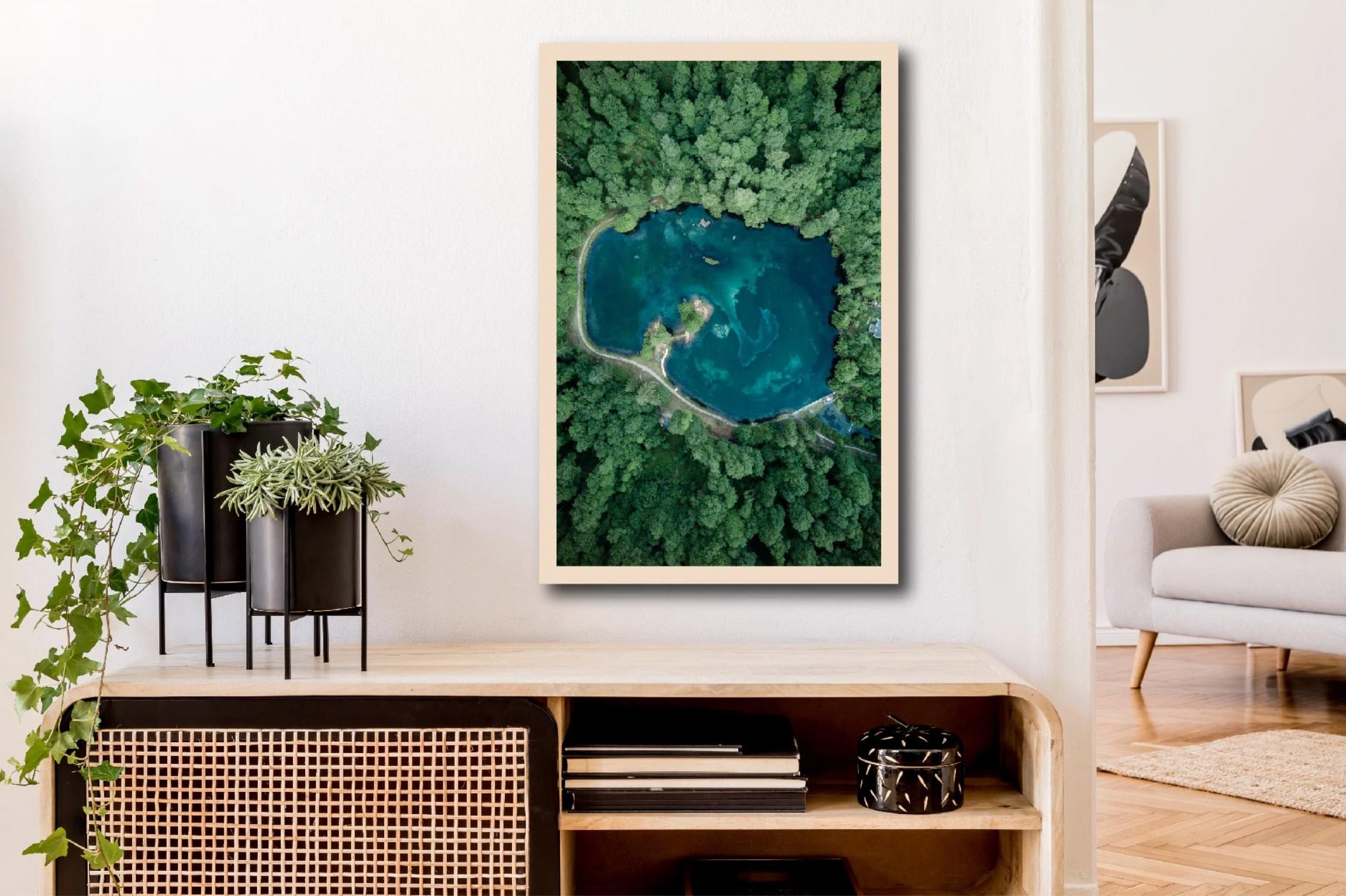 tableau photo du lac de Bethmale Ariège