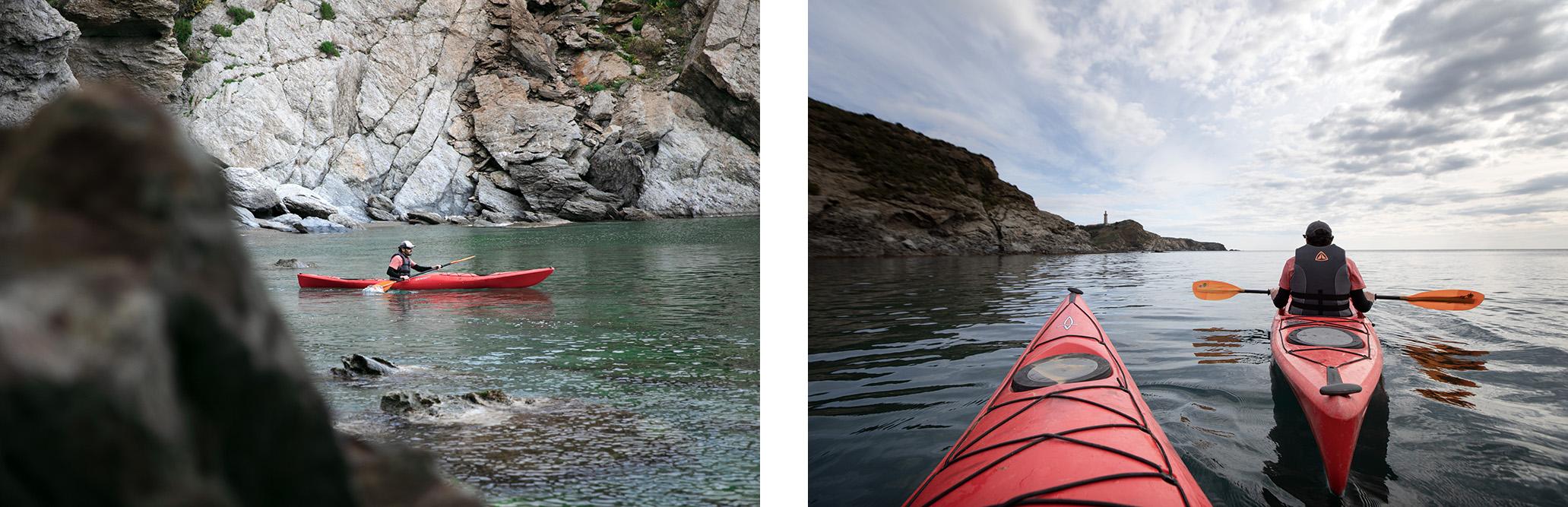 kayak de mer dans les Pyrénées Orientales