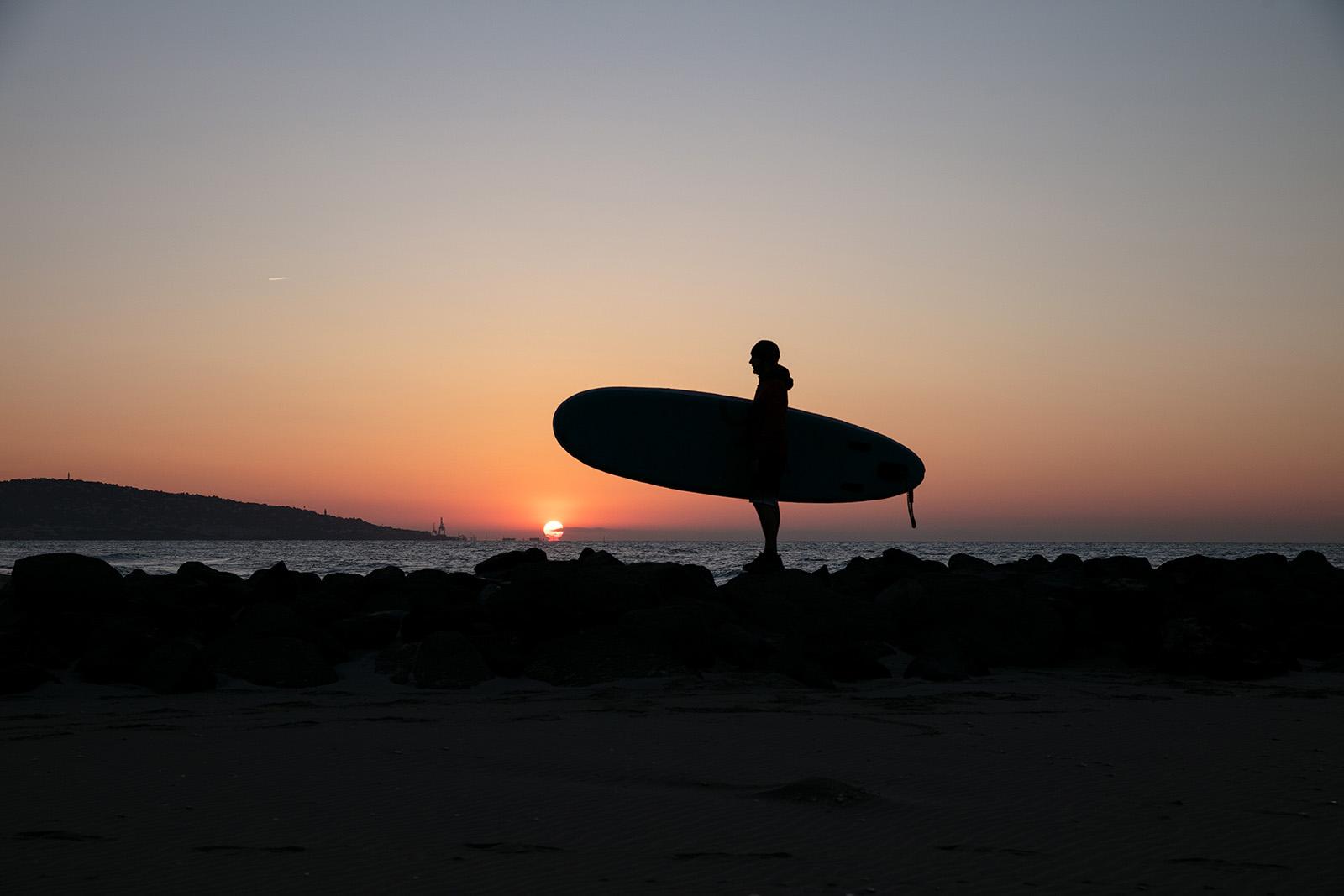 Paddle sur la plage à Sète