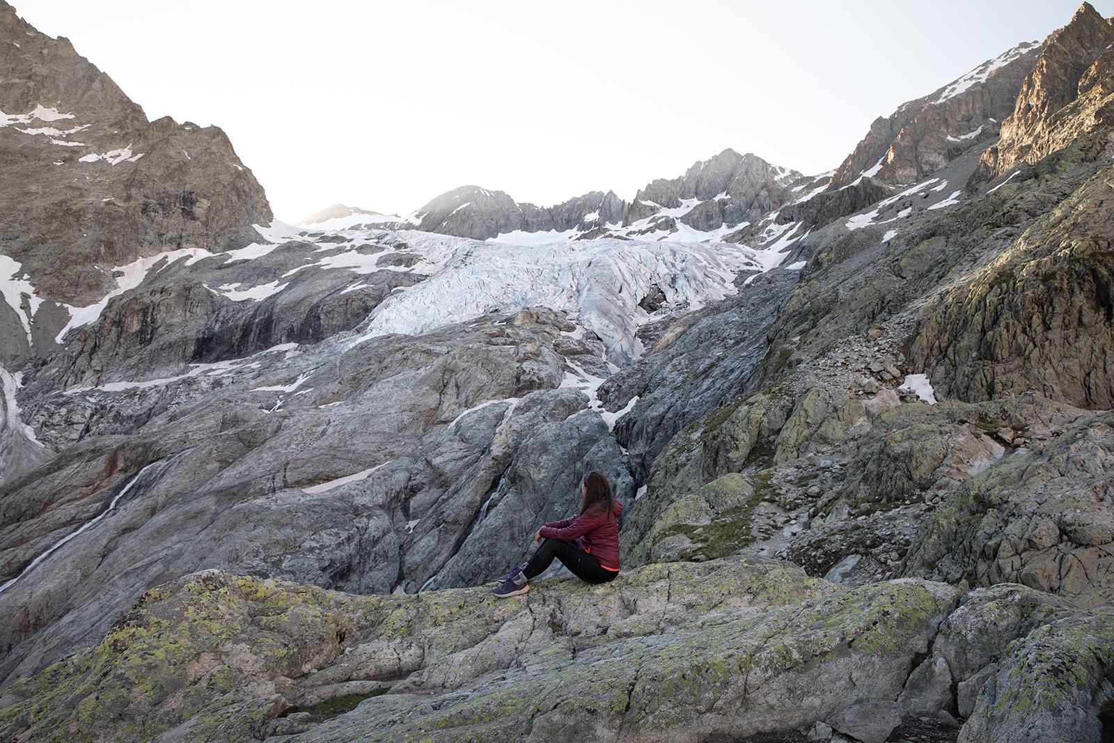 Vue depuis le refuge du Glacier Blanc