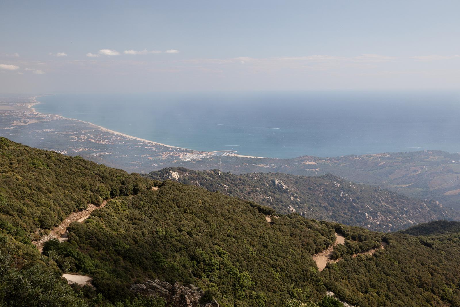 Vue sur mer sentier Massane