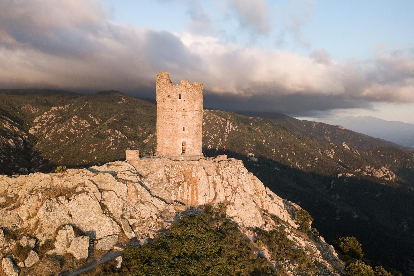 Sommet de la tour de la Massane
